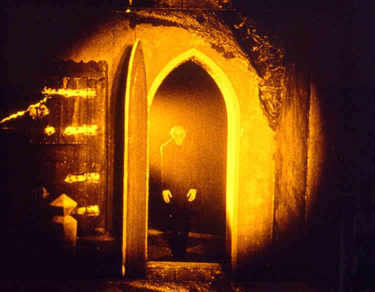«Après des années de controverse, où il exista du Nosferatu plusieurs versions en circulation (dont certaines tronquées), le public d'aujourd'hui peut enfin le voir tel qu'il avait été pensé à l'origine par son réalisateur : teinté grâce à des filtres de couleurs. Le bleu, qui dans la grammaire de l'époque signifie la nuit (et le jaune le jour), emprunte ses nuances inquiétantes aux peintures expressionnistes du Cavalier Bleu».