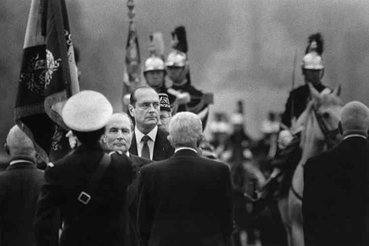 Le jour du second tour de l'élection présidentielle, le 8 mai 1988, avec François Mitterrand.