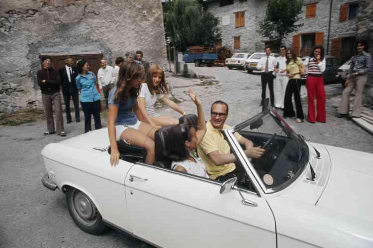 La famille Chirac en Corrèze, en août 1974.
