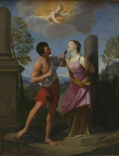 Cette Sainte Apolline, réalisée à la fin de la période romaine de l'artiste Guido Reni, mérite l'éloge de l'abbé de Fontenai qui, rédigeant au XVIIIe siècle les notices des gravures de la collection d'Orléans, écrit : « Ce tableau est une des plus belles productions de Guide : il réunit la beauté et la transparence du coloris, aux grâces de l'expression, à l'élégance du dessin, et au fini le plus précieux ».