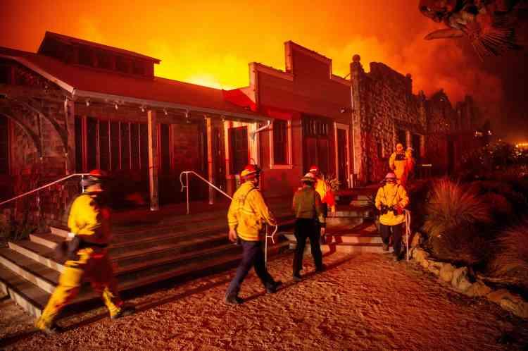Le point le plus au sud au sein des zones à évacuer se situe à 70 km de San Francisco à vol d'oiseau.La ville de Healdsburg a notamment été touchée.
