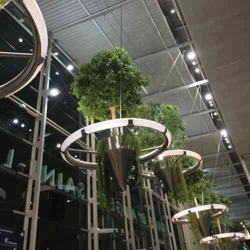 L'élégante installation du designer végétal Alexis Tricoire accueille les usagers de la gare SNCF.