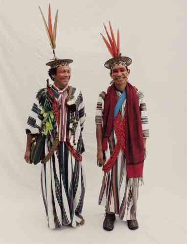 Moises Piyako (à gauche) et Benki Piyako, du peuple ashaninca, Brésil.