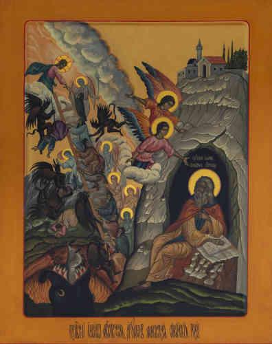"""«Après avoir été élevé au monastère Sainte-Catherine du Sinaï en Palestine, saint Jean Climaque (†649) devient ermite. Puis, ayant visité les monastères de l'Egypte, il revient au Sinaï et est élu higoumène du monastère Sainte-Catherine. Il est l'auteur de l'un des plus précieux traités spirituels chrétiens. Intitulé """"L'Echelle sainte"""" (ou parfois """"L'Echelle du paradis""""), il vaudra à Jean de recevoir le surnom de Climaque (en grec, klimax signifie """"échelle"""") et aura une grande influence en Orient, puis en Occident.»"""