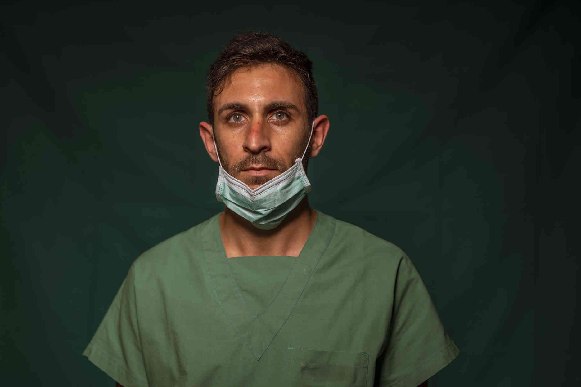 Daniele Rondinella, 30 ans, infirmier en soins intensifs à la clinique Spoke Casal Palocco de Rome.