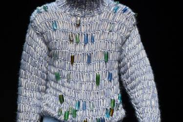 A model presents a creation by Topman Design during the Autumn/Winter 2014 London Collections: Men fashion event in London on January 6, 2014. AFP PHOTO/BEN STANSALL