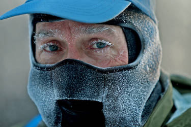 """John Brower snow in his eye lashes after running to work in the frigid -20 weather Monday, Jan. 6, 2014 in Minneapolis. A whirlpool of frigid, dense air known as a """"polar vortex"""" descended Monday into much of the U.S.   (AP Photo/The Star Tribune,  Elizabeth Flores)  MANDATORY CREDIT; ST. PAUL PIONEER PRESS OUT; MAGS OUT; TWIN CITIES TV OUT"""