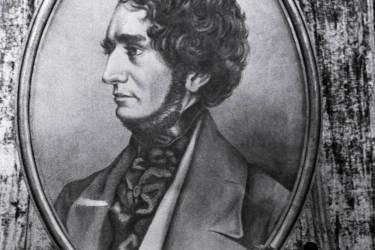 Des artistes russes célèbrent, en décembre 1953 à Moscou, la mémoire du compositeur français Hector Berlioz (1803-1869), à l'occasion du 150ème anniversaire de sa naissance.    AFP PHOTO